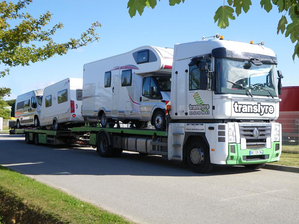 transport mobil home, transport matériel de loisirs, transport caravanes, tarif transports mobil home, installaion mobil home, calage mobil home